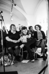 Stolze Preisträger im Publikum, Foto: Jo Larsson