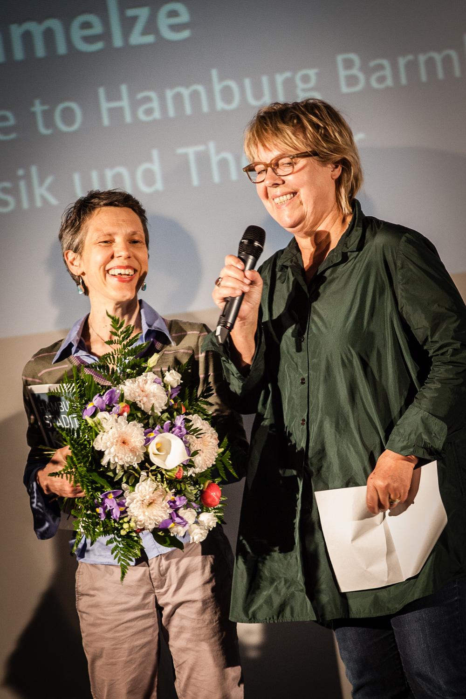 Sonja Engler von der Zinnschmelze mit Moderatorin Catarina Felixmüller, Foto: Jo Larsson